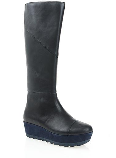 Platform Topuklu Çizme-Camper